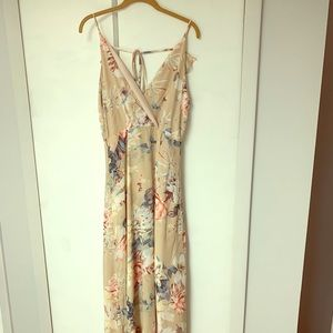 Lulus Something Just Like This Beige Floral Maxi